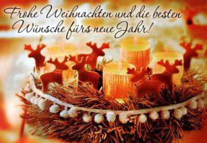 Frohe Weihnachten und die besten Wünsche fürs neue Jahr